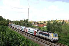 B1816--2018_08_31_106 Hennuyères (phi5104) Tags: trains treinen sncb nmbs hennuyères