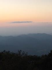 View to the North (GAWV) Tags: northgeorgia blueridgemountains georgia sunset moonrise view peace serenity trees mountains haze appalachiantrail clouds