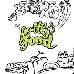 healthy Food lettering (Hebstreits) Tags: background banner bio calligraphy card concept cooking design diet drawn eat eco emblem fat font food fresh fruit graphic green hand health healthy illustration inscription isolated label leaf letter lettering lifestyle logo natural nature no organic poster quote quotes restaurant sign symbol text type typography vector vegan vegetables vegetarian white