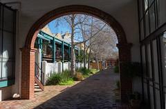 Quiet Corner (Steve Paxton WA) Tags: trees arch architecture sunlight shadows bricks fences windows fremantle paving