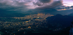 Grenoble Evening (kawaspresso) Tags: grenoble city landscape cityscape night evening dusk blue hour clouds mountains alps alpes isere lights nightlife urban panorama sony mirrorless