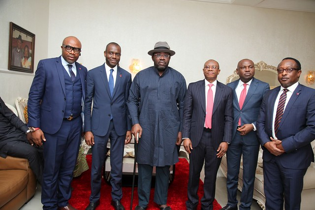 HSDickson- Condolence Visit to His Excellency by Sterling Bank Executives. 29 August 2018