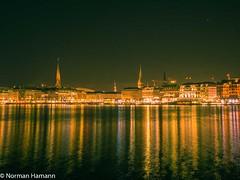Night (Norman Hamann) Tags: stars alster nacht hamburg