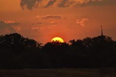 Beneath the Steeple (Robin Shepperson) Tags: summer view steeple d3400 nikon berlin germany orange red black evening dusk twilight sun