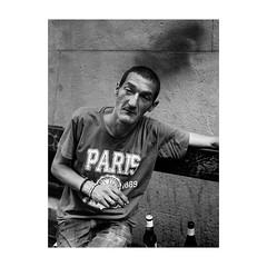 ... (jcois.) Tags: pentax portrait streetportrait street photography regard blackwhite bw noirblanc nb monochrome monotone urbain urban people frenchtouch personnes jcois paris