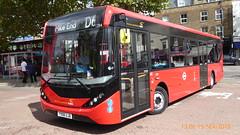 P1130267 1284 YX68 UJB at Mile End Station Grove Road Mile End London (LJ61 GXN (was LK60 HPJ)) Tags: ctplus hackneycommunitytransportgroup enviro200 enviro200d e200d enviro200mmc enviro200dmmc mmc majormodelchange 109m 10870mm 1284 yx68ujb h2972
