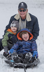Family Fun in the Snow (HansenPrime) Tags: snow fun portrait sled sledding snowing winter family activity sport cold frost frosty
