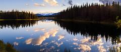 (patrickgkelly) Tags: lake water reflection sunset mountains kelleysbathtub alberta landscape panorama