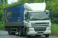 DAF CF Nightfreight MX61 CXM (SR Photos Torksey) Tags: transport truck haulage hgv lorry lgv logistics road commercial vehicle traffic freight daf cf nightfreight