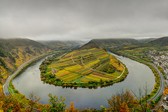 Moselschleife (Photofreak587) Tags: autumn colorful landscape cloudy moselschleife germany hdr europe mosel nature