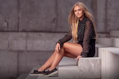 Cornelia (matthiesen66) Tags: blue blond hair young girl model sony denmark shoes steps light