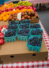 Fall Harvest Colors (Ed Newman) Tags: grapes tomatoes fruit vegetables produce greenmarket market nyc newyork brooklynboroughhall