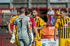 Altrincham FC vs Boston United - August 2018-142 (MichaelRipleyPhotography) Tags: altrincham altrinchamfc altrinchamfootballclub alty ball bostonunited community fans football footy goal header jdavidsonstadium kick mosslane nationalleaguenorth nonleague pass pitch preseason referee robins salfordcity save score semiprofessional shot soccer stadium supporters tackle team vanarama