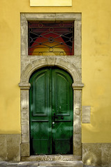 Green Door (Russ Dixon Photography) Tags: russdixon russdixonphotography door doorway portal fujixe2 budapest europe hungary