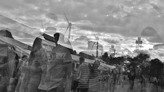 Lemonade dreams (naromeel) Tags: cne theex toronto canada bw doubleexposure multipleexposure people
