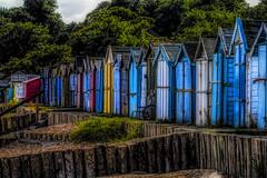 Calshot (Bobinstow2010) Tags: calshot hut wood beach coast uk colour arty topaz photoshop sea front