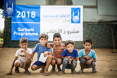 Islamic Relief Qurbani distribution in Lebanon in 2018.
