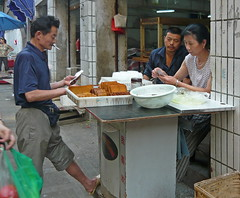 Market People Playing Cards (Wolfgang Bazer) Tags: market people marktleute markt playing cards card players kartenspieler hefei anhui china
