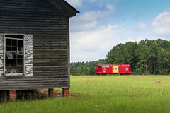 Home -Southern Railway, Ward, S.C. (DT's Photo Site - Anderson S.C.) Tags: canon 6d 24105mml lens wardsc saluda county southcarolina house home farm caboose railway railroad southernrr red summer august rural country rfd southern america usa scenic rustic vintage vanishing disappearing past aging serene classic wood field yard
