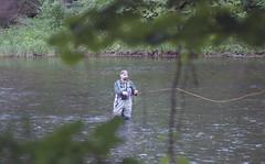 Leidy Bridge June 4th 2018 (rentavet) Tags: pottercountypa kettlecreekpottercounty flyfishing hawkeyesurveillancefilm2486 kodakhawkeyesurveillancefilm nikkormatel nikkor105mm analog