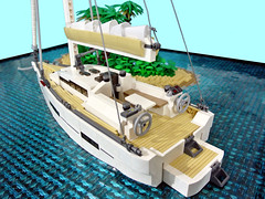 Island Time (Disco86) Tags: lego moc sail yacht dufour 520 caribbean antiguea leewards boar palm tree nature island water beach boat