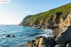 Porth Nanven Beach (M J Robinson Photography) Tags: 2017 cornwall holiday westcountry stjust st just porthnanven porth nanven beach stone boulders sea ocean coast sunset landscape photography nikon d7100 nikond7100