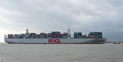 OOCL Japan (frisiabonn) Tags: vehicle ship water england uk britain marine vessel river sea shore waterfront maritime boat outdoor felixstowe shotley harwich orwell stour oocl japan container cargo carrier huge large port docks harbour