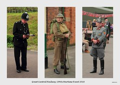 Great Central Railway (mickyman13) Tags: greatcentralrailway gcr 1940sweekend 1940s 1940swartimeevent policeman germanofficer army leicestershire leicester canon cannoneos60d 60d 60deos eos eos60d reenactors soldier privatesoldier