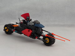 Lego scratch built batman bike (Artybee) Tags: lego batman motor bike vehicle scratch built