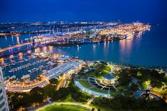 Port of Miami Evening Blues-8467 (islandfella) Tags: miami downtown florida port blue hour twilight boats marina sea usa city platinumheartaward dusk bayside