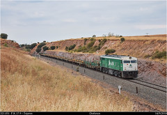 Hoy carril (Trenes2000) Tags: trenes tren adif carrilero diesel alco 321 321051 mercancias mercante trenes2000 tejares obras mantenimiento doñinos