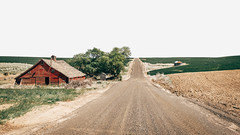 Rural Adventure (Pedalhead'71) Tags: abandoned barn desert dirtroad douglascounty drive easternwashington gravel landscape prairie road rural washington wheat