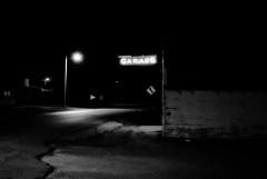 Route 6 (David Sebben) Tags: iconic garage neon sign york ladora iowa highway6 black white monochrome