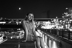 Lights (_storysofar_) Tags: streetphotography streetportrait portrait girl lights city citylights cityscape moscowcity urban urbanscape night nightlife nightscape midnight permission moscow russia fujifilm