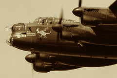 BBMF Lancaster Bomber at Dunsfold Wings & Wheels (Art-G) Tags: aircraft aeropplane ww2 bbmf lancasterbomber dunsfold wingswheels airshow surrey uk canon eos7dmkii sigma150600c aged sepia monochrome sundaylights somethingfortheweekend