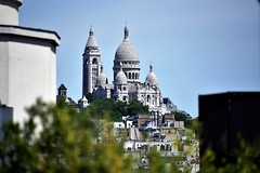 Sacre-Coeur (sabinakurt_photo) Tags: tree sky building paris france europa architecture beautiful basillica sacrecoeur sacredheart montmartre nikon travel view roofs beautifulcities people attraction