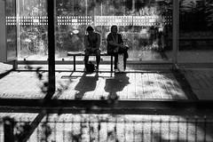 At the busstop (Black&Light Streetphotographie) Tags: monochrome mono menschen menschenbilder leute people personen portrait peoples portraits urban tiefenschärfe wow dof depthoffield fullframe face gesicht nahaufnahme city closeup sony streetshots streets streetshooting streetportrait street sw streetphotographie sonya7rii lichtundschatten lightandshadows blackandwhite blackwhite bw bokeh bokehlicious blur 2