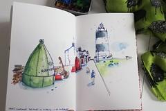 Hook's lighthouse. The oldest in Europe. Ireland.  #irland #hooklighthouse #usk #urbansketching #watercolorandink (xana1975) Tags: urbansketching irland hooklighthouse watercolorandink usk
