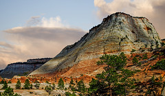 Checkerboard Mesa (My Americana) Tags: zionnationalpark zion nationalpark np sunset scenic landscape checkerboard mesa ngc greenscene