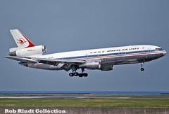 Korean Air Lines DC-10-30 HL7315 (planepixbyrob) Tags: korean koreanairlines mcdonnelldouglas douglas dc10 hl7315 hnd tokyo haneda kodachrome
