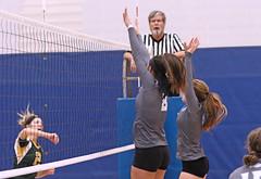 IMG_2880 (SJH Foto) Tags: girls high school volleyball teens team east stroudsburg varsity net battle spike block action shot jump midair burst mode