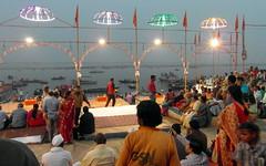 ganga seva nidhi (1) (kexi) Tags: varanasi india asia benares river ganga ganges boats people many crowd lights gangasevanidhi celebration ritual samsung wb690 february 2017 thebluehour