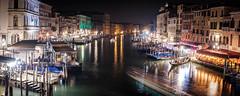 Grand Canal at Night (www.alexjphotography.co.uk) Tags: canal venice venezia italy italia grandcanal nightphotography xpro2 gondola water colours longexposure blur motionblur
