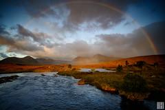 inside the rainbow (gregor H) Tags: ballachulish schottland vereinigteskönigreich gb glencoe highlands rainbow rain sun morning sunrise nature glowing