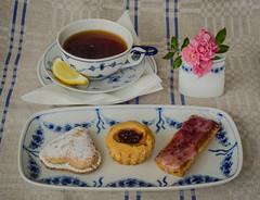 Tea at five (frankmh) Tags: its5oclock flickrfriday tea pastry hittarp skåne sweden food drink