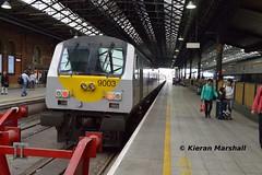 9003 at Connolly, 1/8/18 (hurricanemk1c) Tags: railways railway train trains irish rail irishrail iarnród éireann iarnródéireann 2018 enterprise northernirelandrailways nir dedietrich 1405belfastcentraldublinconnolly 9003 dublin connolly