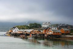 Sakrisøya (DoctorMP) Tags: reine lofoten nordland norwaytown houses islands outdoors summer clouds