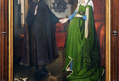 Jan Van Eyck, Dress detail, The Arnolfini Portrait