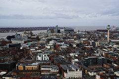 Liverpool from Liverpool Cathedral (p.mathias) Tags: liverpool city cityscape england uk europe overcast january unitedkingdom mersey merseyside river ocean wirral