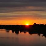 Sonnenuntergang an der Weser thumbnail
